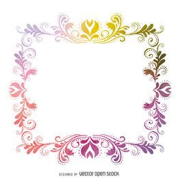 Isolated watercolor swirls frame