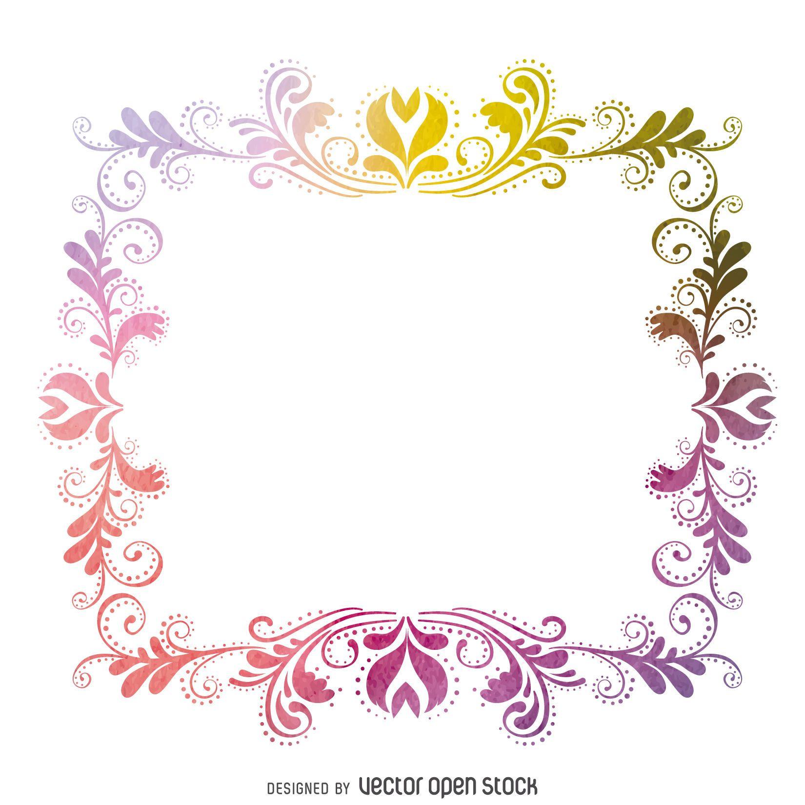Snap Flores de papel colorido con marco cuadrado blanco sobre fondo ...