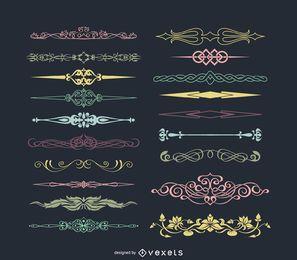 Colección de divisores ornamentales.