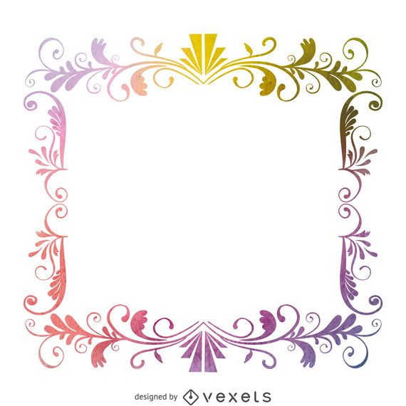 Square watercolor frame