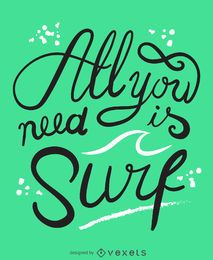 Alles, was Sie brauchen, ist ein Surfposter