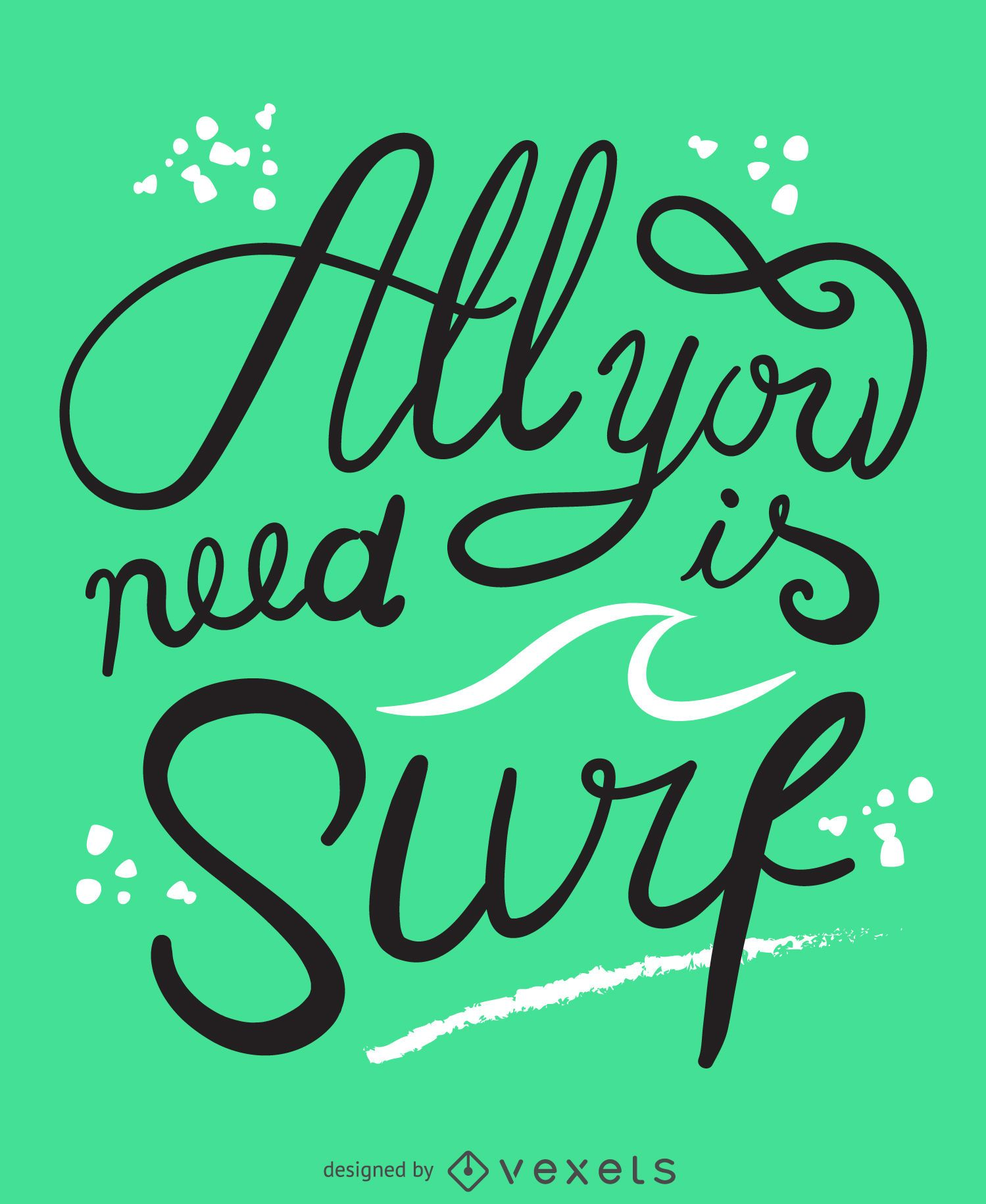 All you need is surf poster
