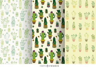 Cactus pattern set