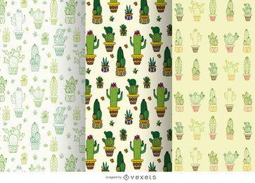 Conjunto de patrón de cactus