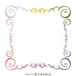 Aquarela roda frame