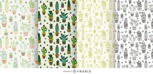 Colección de modelos de cactus