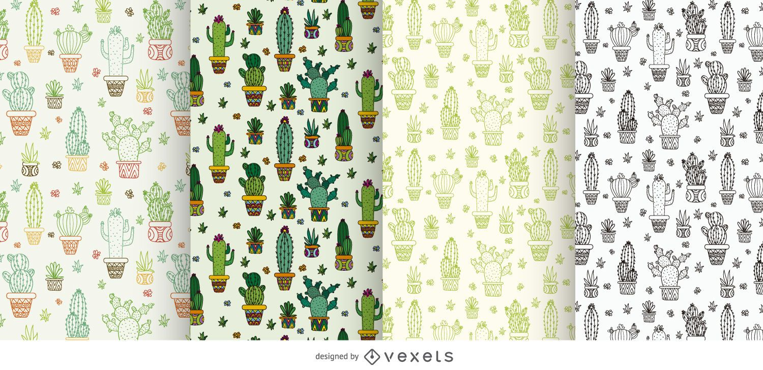 Collection of cactus patterns