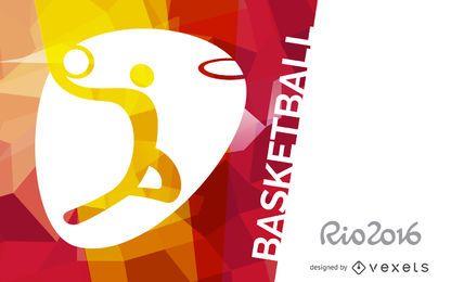 Rio 2016 Basketballfahne