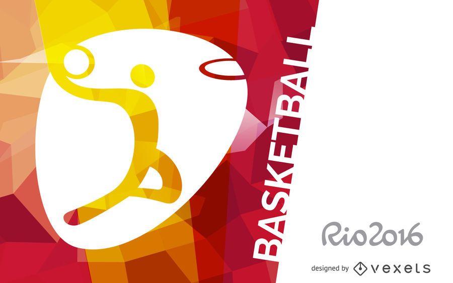 Rio 2016 basketball banner