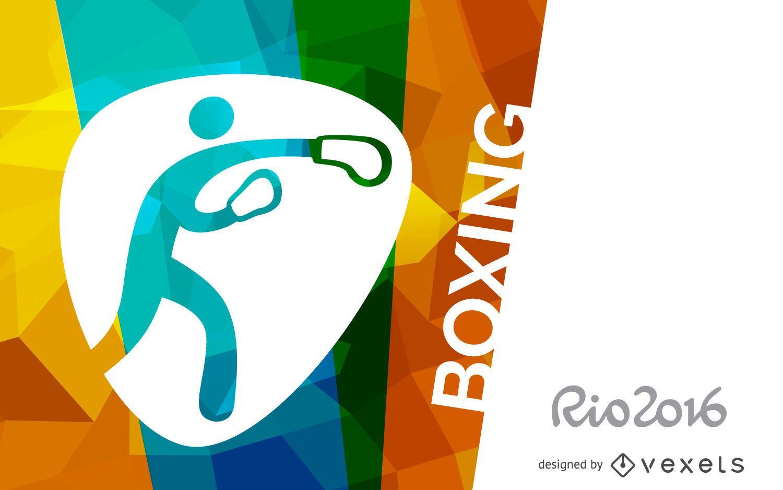 Póster de boxeo Rio 2016