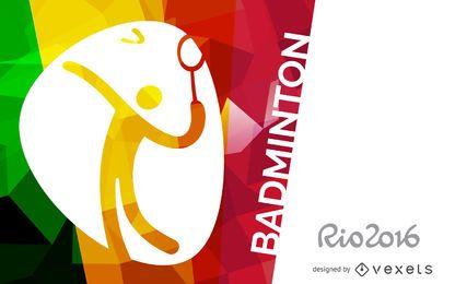 Rio 2016 badminton banner