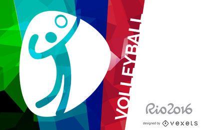 Río bandera 2016 de voleibol