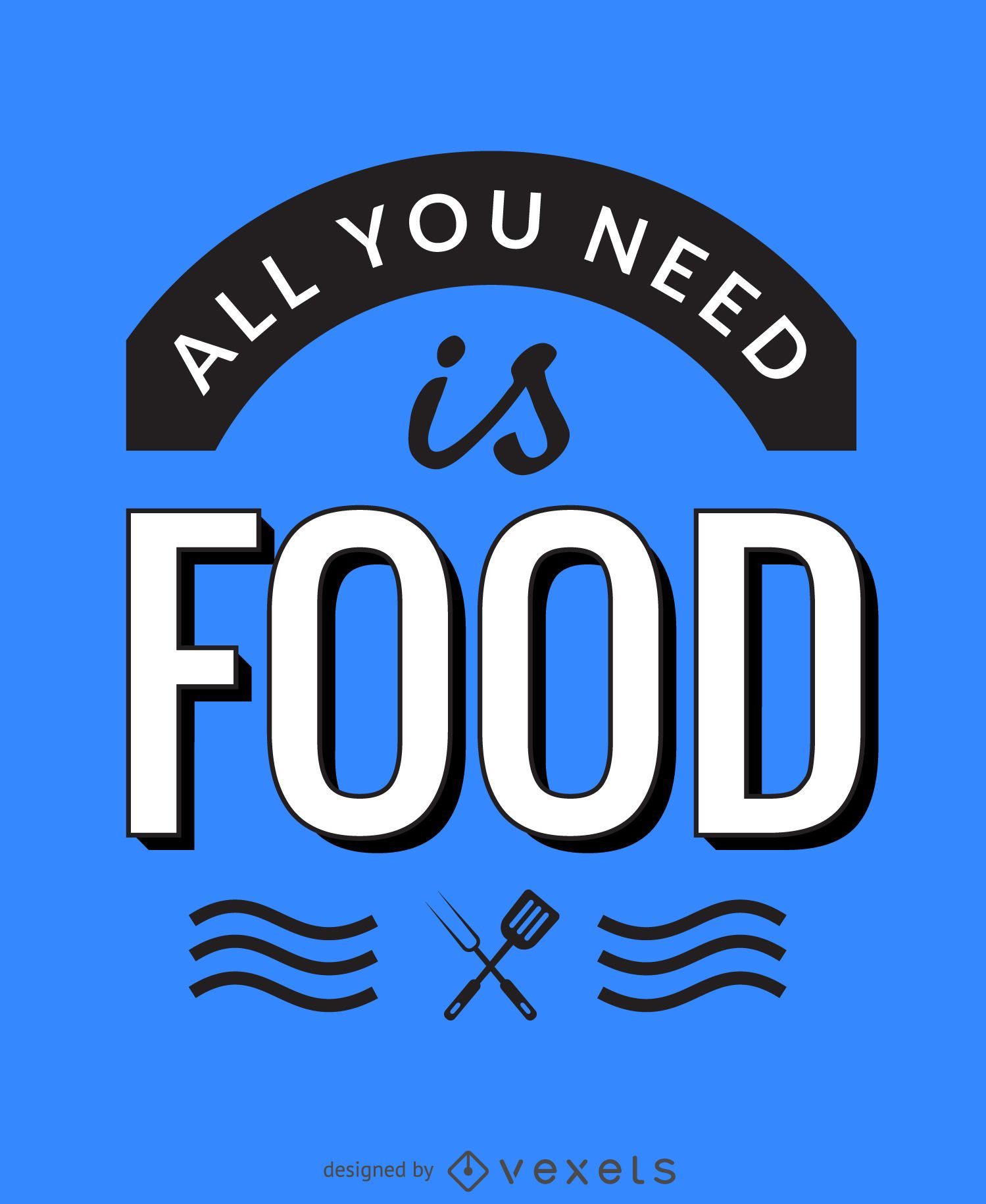 All you need is food poster