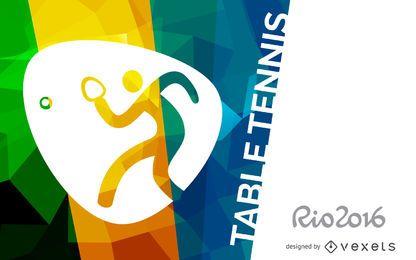 Banner de tênis de mesa Rio 2016