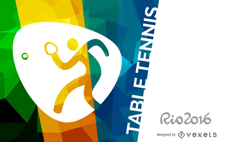 Rio 2016 table tennis banner