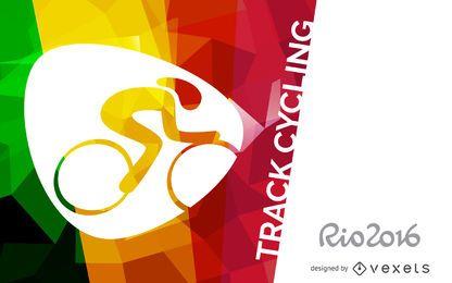 Cartel de ciclismo de pista Rio 2016