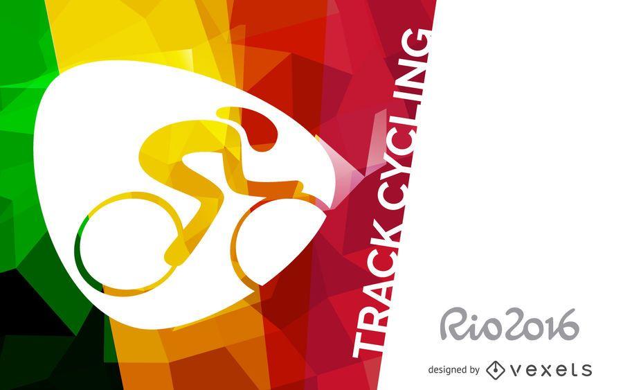 Cartaz de ciclismo de pista Rio 2016