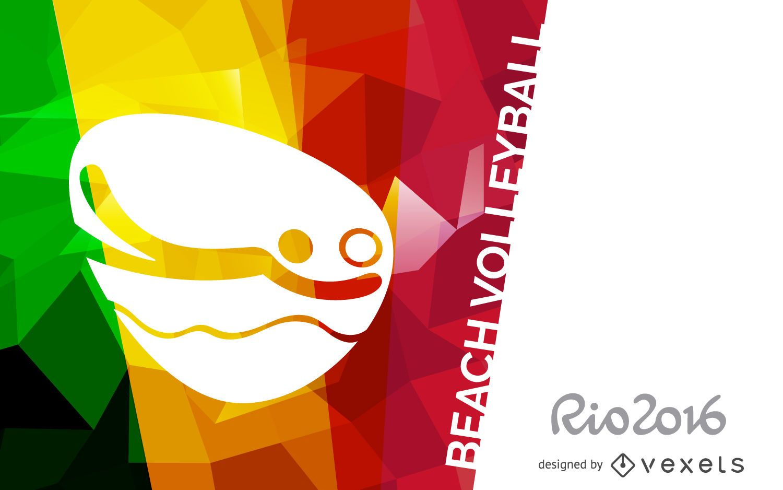 Rio 2016 beach volleyball banner