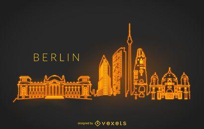 Berlin neon skyline