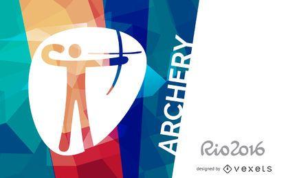 Cartel de tiro con arco Rio 2016