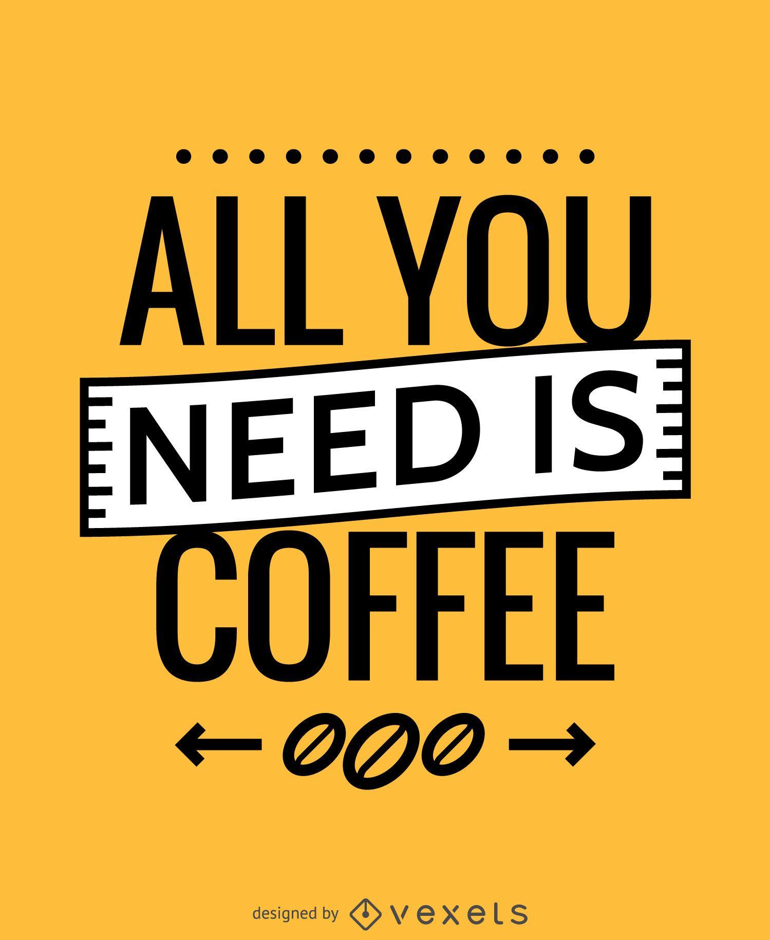 Tudo que você precisa é um pôster de café
