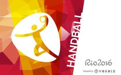 Cartaz de handebol do Rio 2016