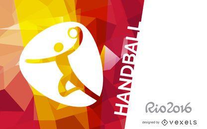 Cartel de balonmano Rio 2016