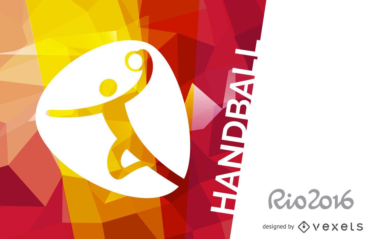 Rio 2016 handball poster