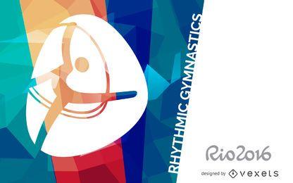 Cartaz de ginástica rítmica Rio 2016