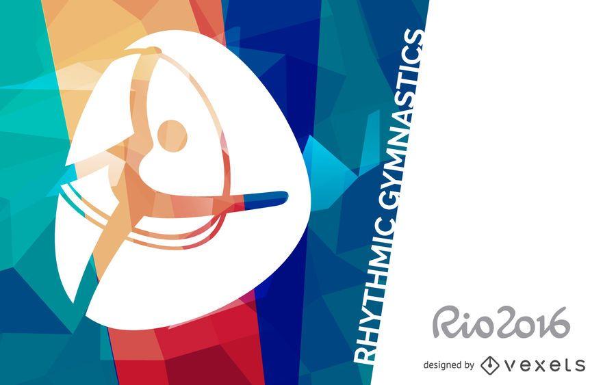 Rio 2016 rhythmic gymnastics poster