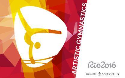 Banner de gimnasia artística Rio 2016