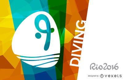 Pancarta de buceo Rio 2016