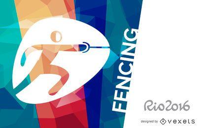 Banner de esgrima do Rio 2016