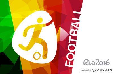 Póster de fútbol Rio 2016