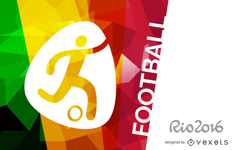 Rio 2016 football poster