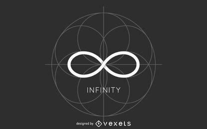Modelo de logotipo do círculo infinito