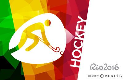 Póster de hockey Rio 2016