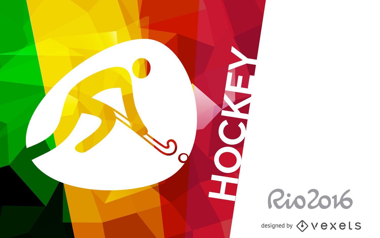 Rio 2016 hockey poster