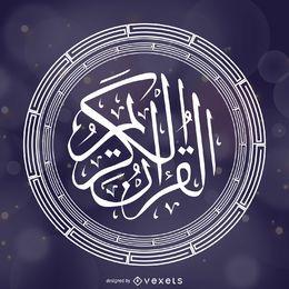 Ornamento del círculo islámico del Corán