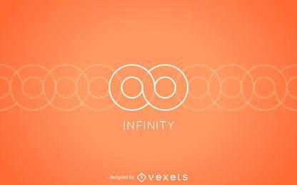 Plantilla de logotipo infinito minimalista
