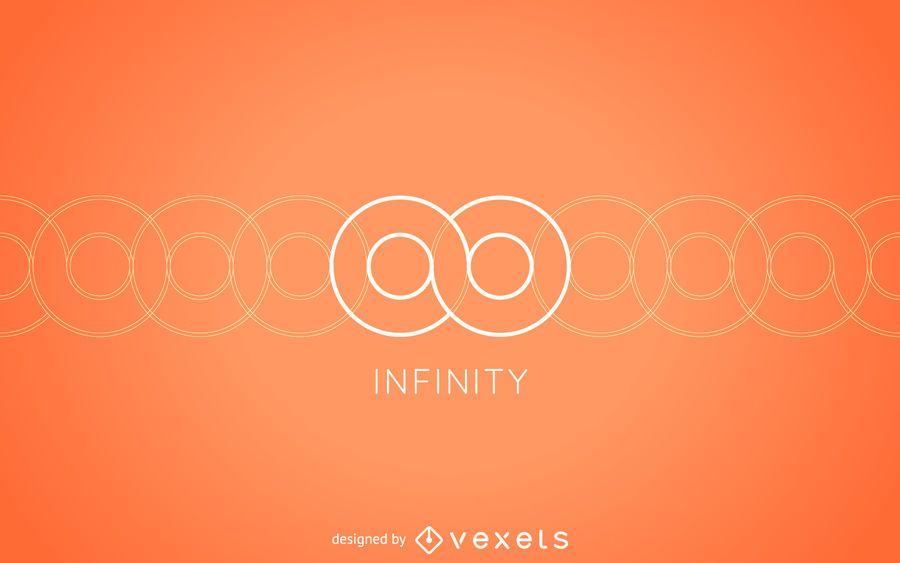Modelo de logotipo infinito minimalista