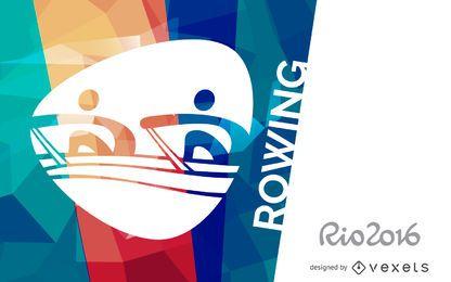 Cartaz de remo do Rio 2016