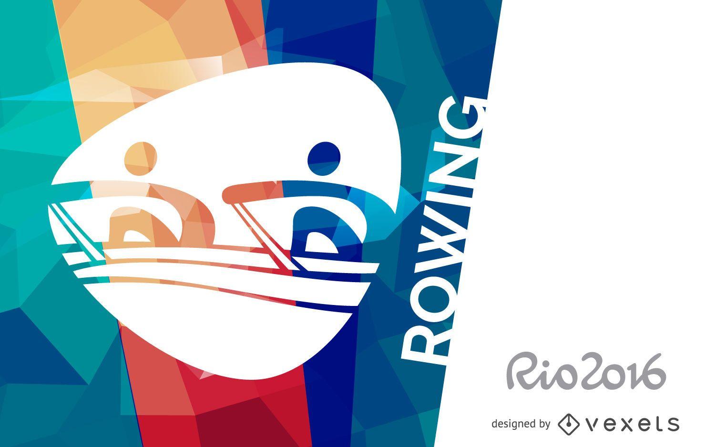 Rio 2016 rowing poster