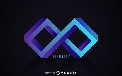 Plantilla de logotipo de infinito poligonal