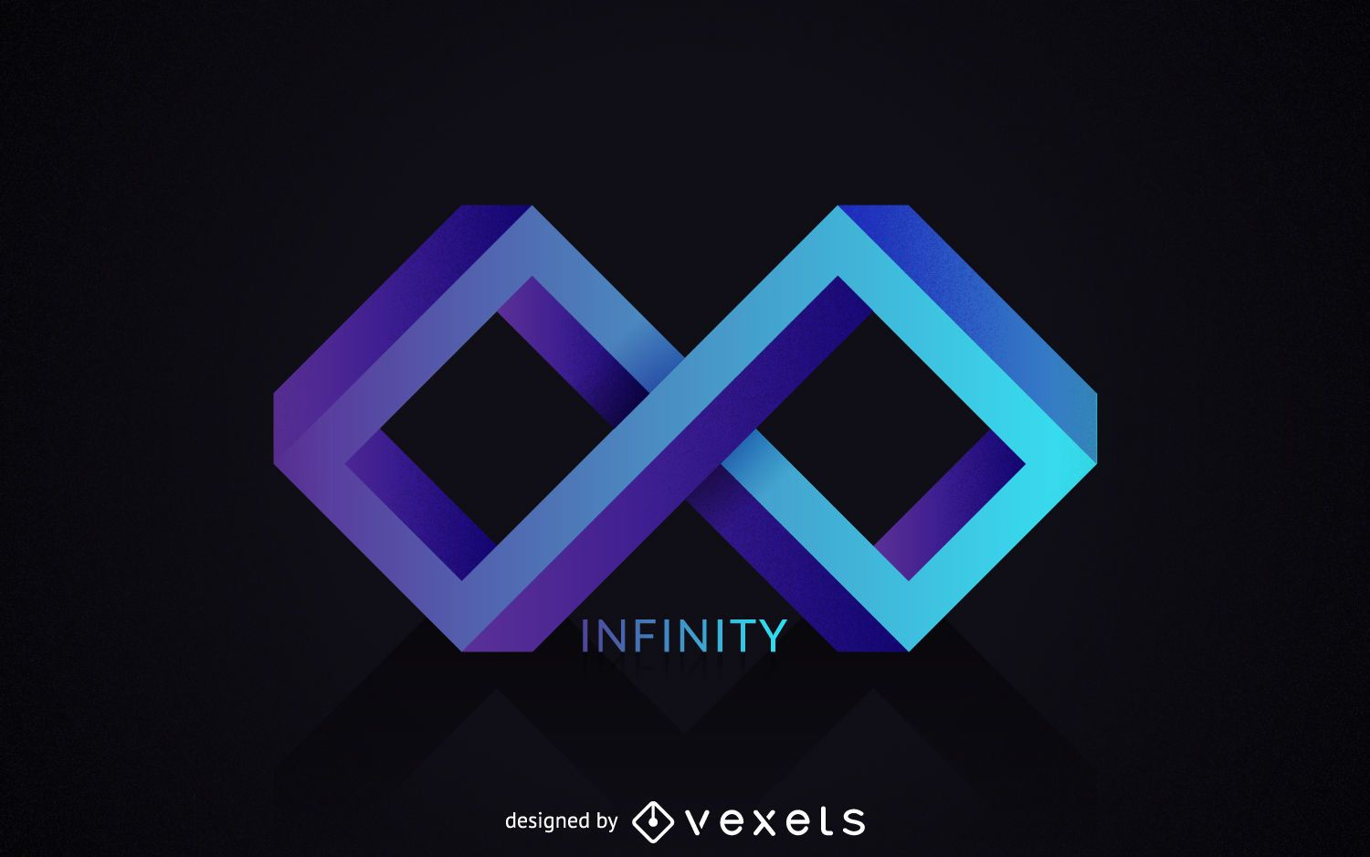 Polygonal Infinity Logo Template Vector Download