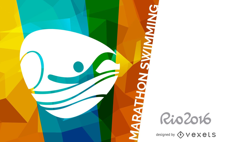 Rio 2016 marathon swimming poster
