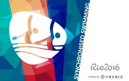 Cartaz de nado sincronizado Rio 2016
