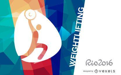 Banner de levantamento de peso do Rio 2016