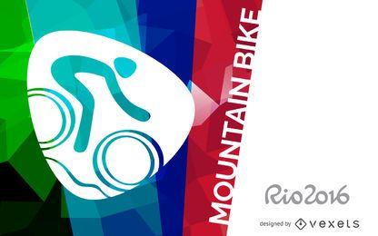 Bandeira de bicicleta de montanha Rio 2016