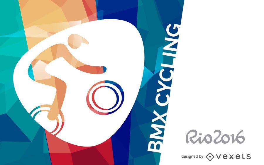 Cartaz de ciclismo Rio 2016 BMX